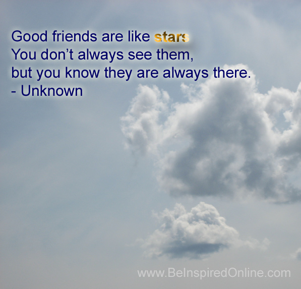 Good friends are like stars graphic