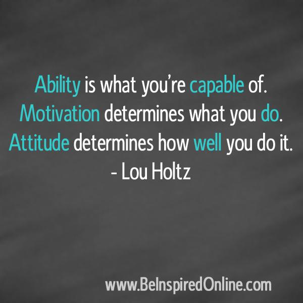 Lou Holtz Quote on Motivation